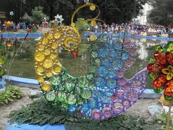 Дизайн сада из подручных материалов видео 12