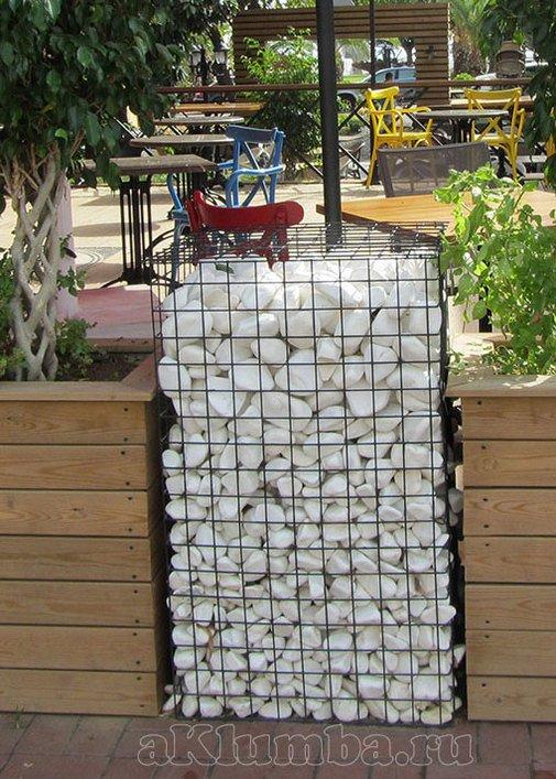 Как сделать забор из габионов